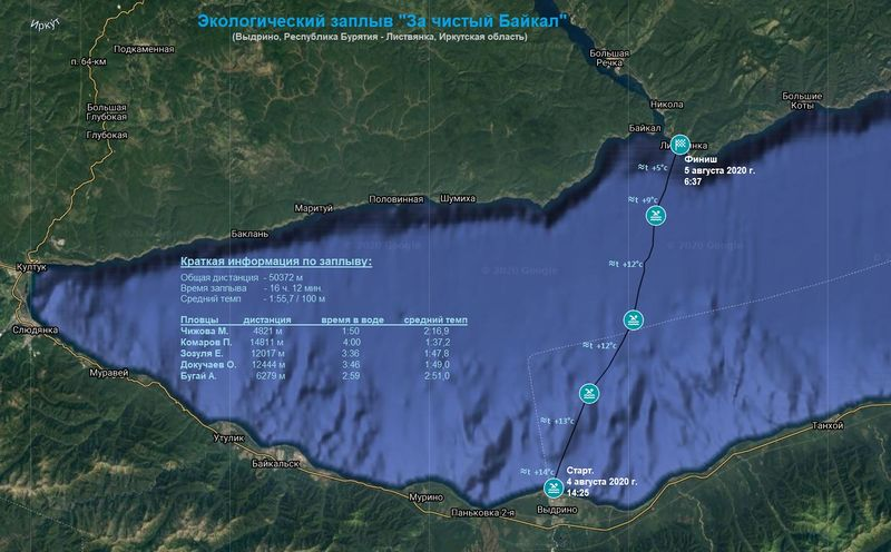 Russian swimmers complete 18-hour relay across Lake Baikal
